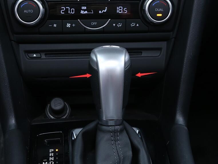 lane legend case Fit For 2014 - 2017 Mazda 3 Axela M3 Gear Shift Knob Trim Cover Interior Handle Badge Garnish Molding Cap