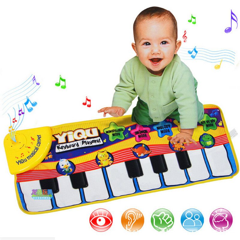 2017 New Baby Music Carpet Baby Music Mat Educational Baby Kid Child Piano Music Plat Mat 72*28cm For Baby Gift Drop Shipping
