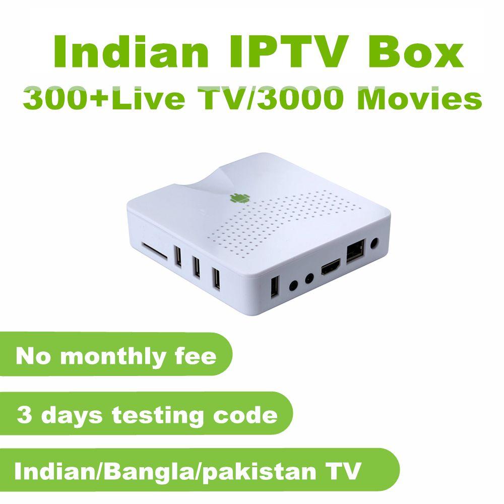 Indische IPTV Box unterstützung 300 + Sterne Plus, Zee TV, Farben, Soni, Sun TV, maa TV, Zee Marathi kanäle Keine monatliche gebühr Indische TV Box