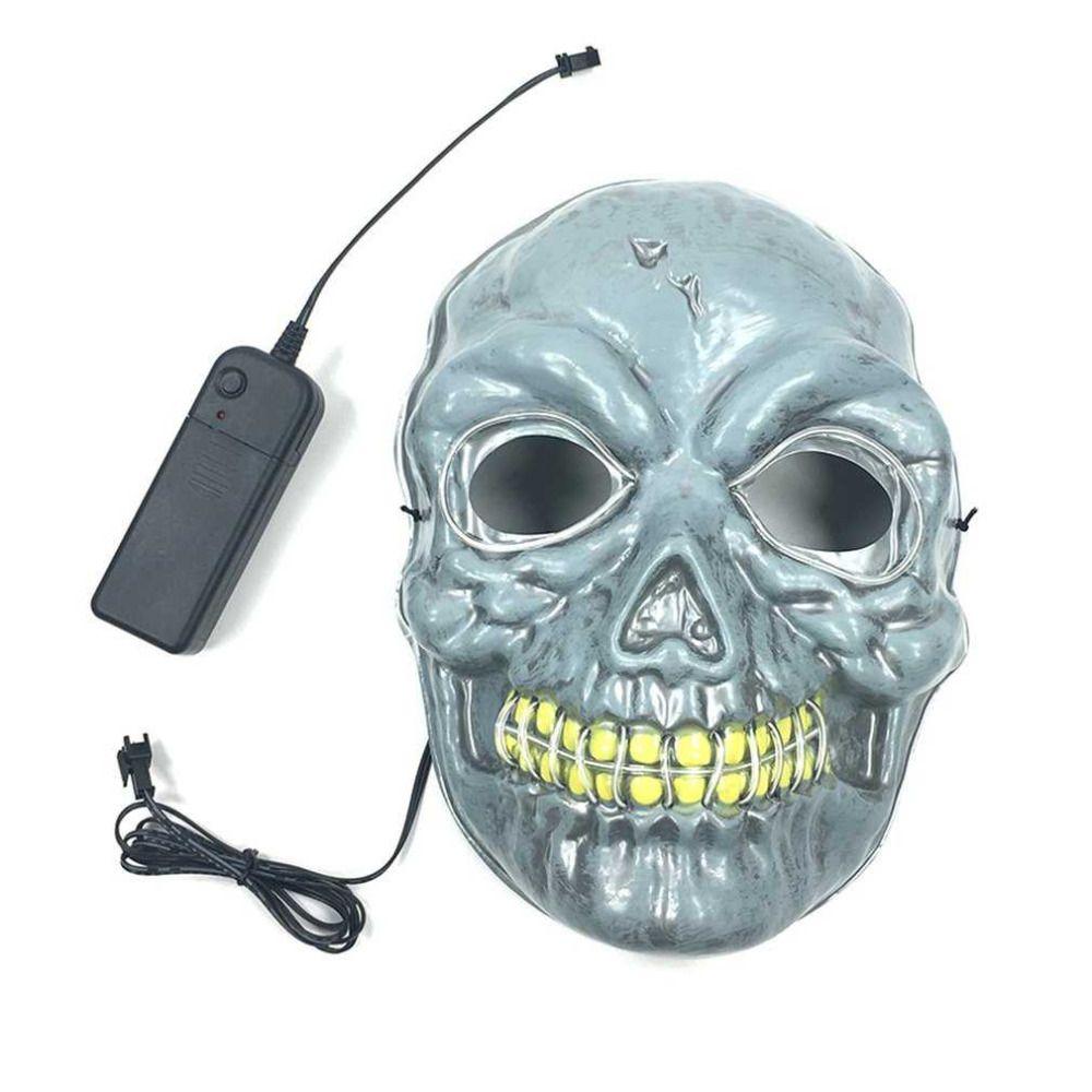 Cosplay Máscara de Calavera con EL Luz Fría Máscara de Miedo Horrible Máscara de Esqueleto Etapa Propiedades De Dance Party de Halloween Decoración