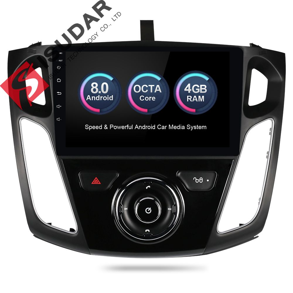 Isudar Car Multimedia player Android 8.0 GPS 1 Din Stereo System For Ford/Focus 3 2012-2014 DSP Radio FM Octa Cores 4GB RAM 4G