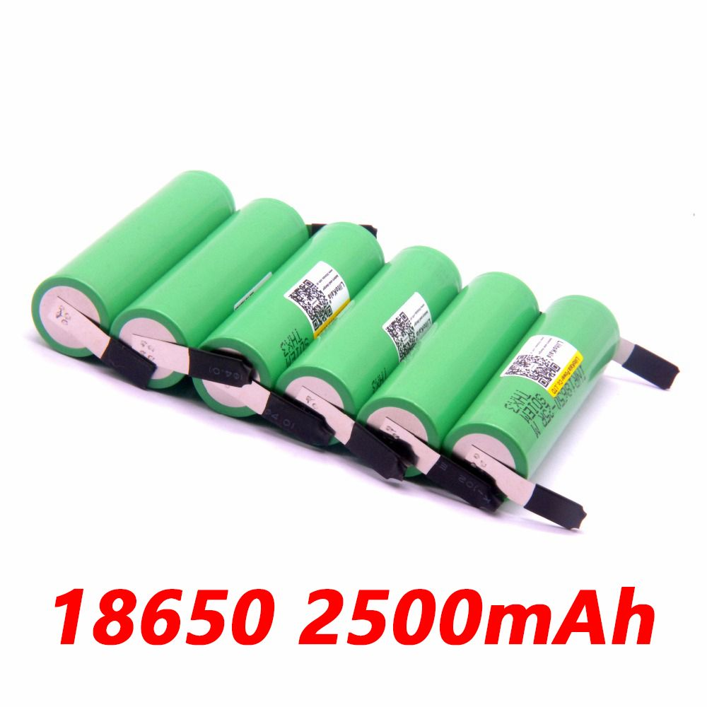 6PCS liitokala 18650 2500mah lithium battery inr1865025RM 2500 10a battery for electronic cigarette+Free shipping
