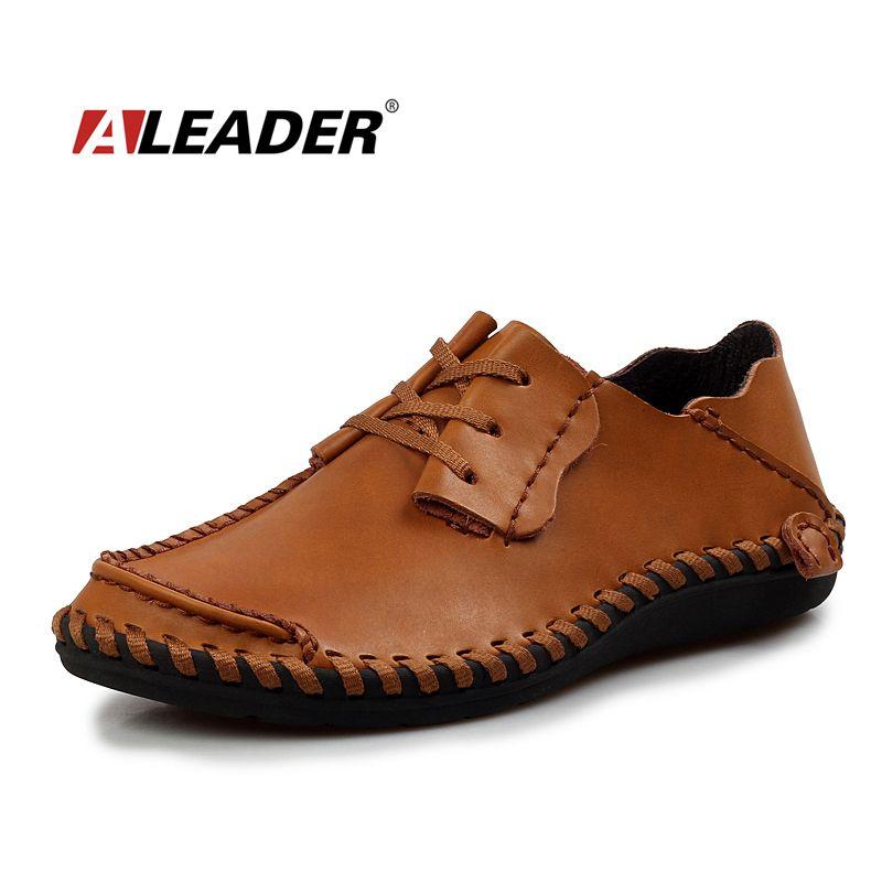 Мужские кожаные туфли Повседневное осень 2017 г. модная обувь для Для мужчин дизайнер Обувь Повседневное Дышащий Большой Размеры Для мужчин S ...