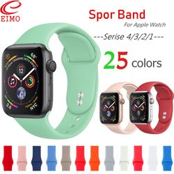 EIMO Para apple watch Strap banda Iwatch 42mm 38mm 44mm 40mm banda Esporte Silicone Pulseira Pulseira Acessórios para a apple watch 4