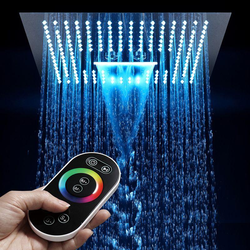 16 Inch Fernbedienung Licht Regen Führte Dusche Kopf Ohne Dusche Bad 64 Farbe LED Showerhead Misty Wasserfall Dusche Decke