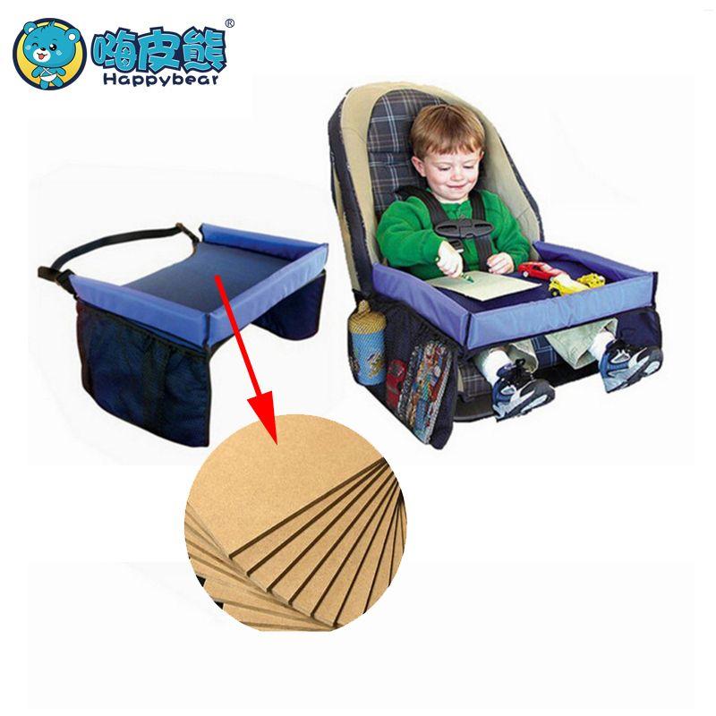 Bébé siège de voiture plateau poussette enfants jouet nourriture support d'eau bureau enfants Portable Table pour voiture nouveau enfant Table de rangement 40*32 cm