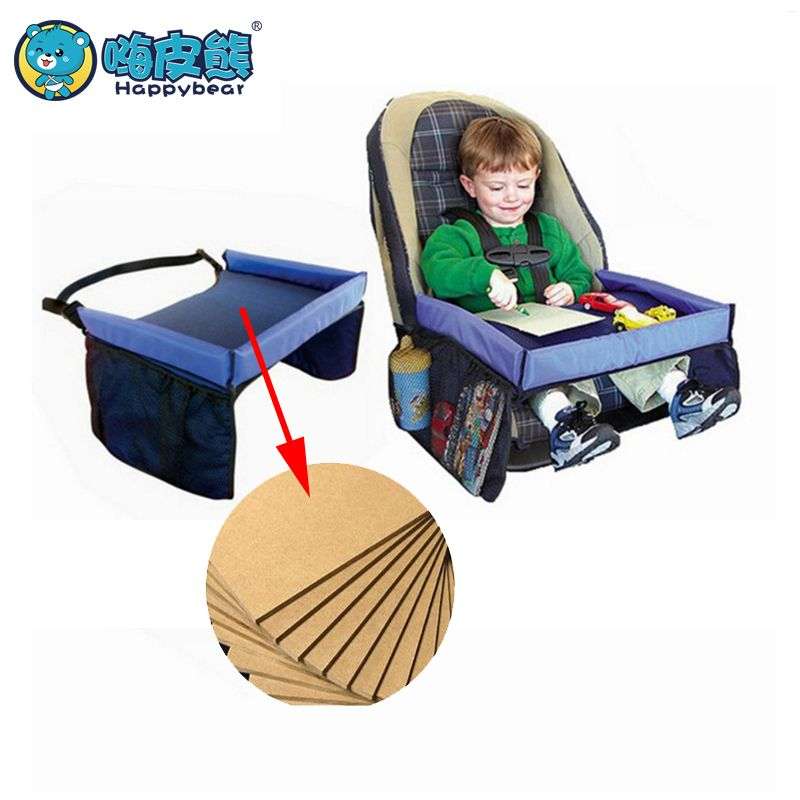 Baby Car Seat Tray Stroller Kids Toy Food Water Holder Desk Children Portable Table For Car New Child Table Storage 40*32cm