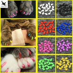 10X20pcs Soft Pet Nail Covers Cat Nail Caps Pet Claw Paws Cover Caps with Free Glue and Applicator Protection Pet Accessories