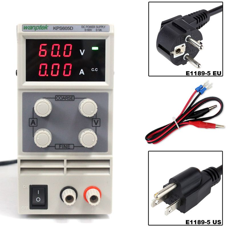 60V 5A DC Regulated Power High Precision Adjustable Supply Switch Power Supply Maintenance Protection Function KPS605D
