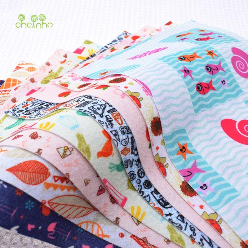 Impression non-tissé feutre tissu épaisseur Polyester doux feutre de décoration de la maison modèle paquet pour coudre poupées artisanat 8 pièces 19x28 cm