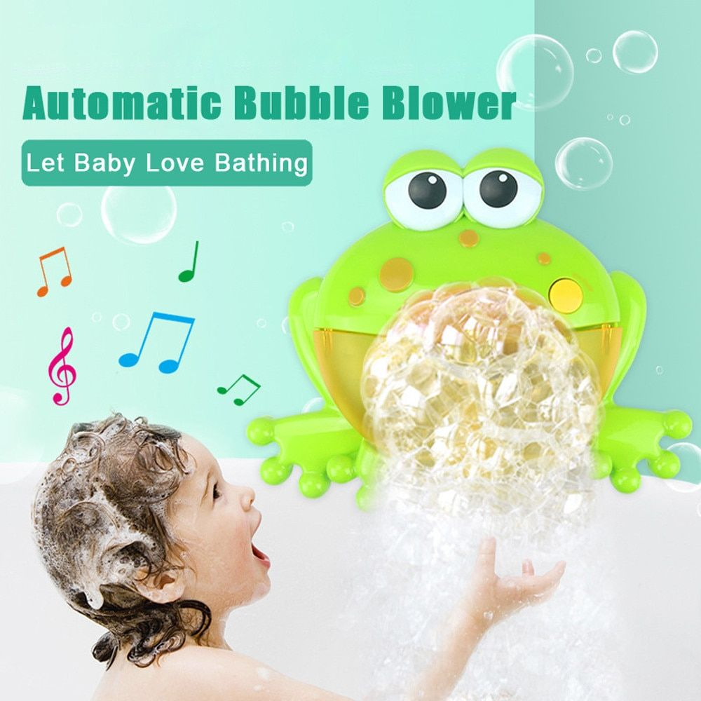 2018 Kids Swimming Water Toys Newborns Baby Bath Bubble Machine Big Frogs Automatic With Music Wash Play Cartoon Educational Toy