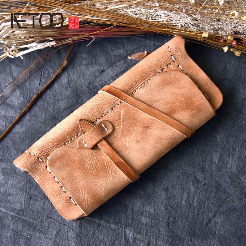 AETOO Volle hand reiben farbe modelle hochwertigem leder damen handtasche vintage wind gegerbtem leder hand tasche