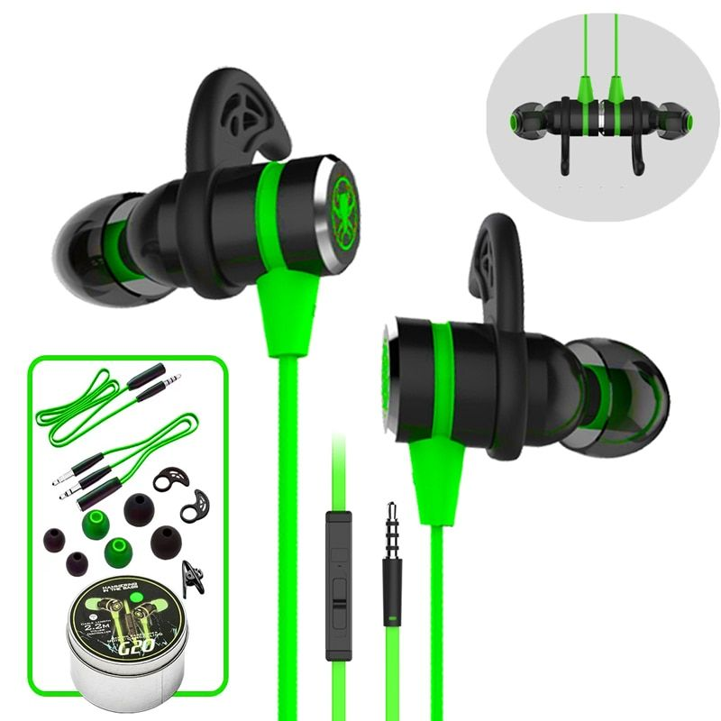 G20 hammerhead Stereo Bass Computer headphones with microphone Magnetic Gaming Headset <font><b>Noise</b></font> Cancelling Earphone for phone Sport
