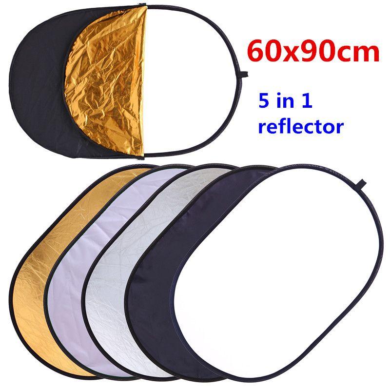 CY 60x90cm 24 ''x 35'' 5 en 1 Multi disque photographie Studio Photo ovale réflecteur de lumière pliable poignée portable disque photo