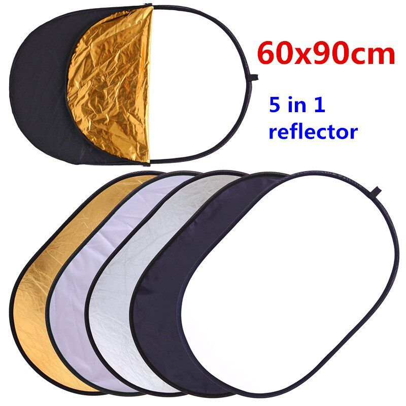 CY 60x90cm 24''x35'' 5 in 1 <font><b>Multi</b></font> Disc Photography Studio Photo Oval Collapsible Light Reflector handhold portable photo disc