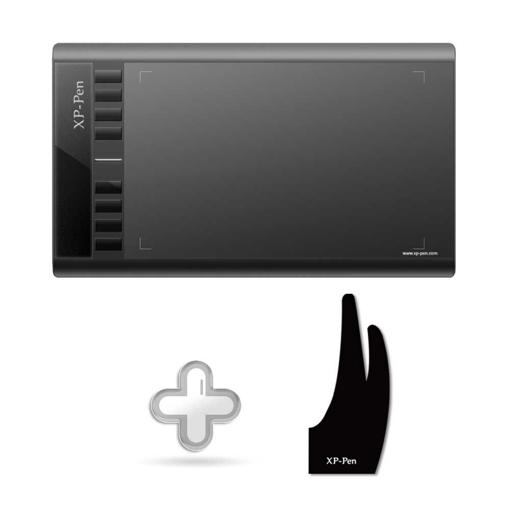 XP-Pen Star03 12 Graphic Tablet <font><b>Drawing</b></font> Tablet + xp-pen two fingers <font><b>drawing</b></font> glove Free Size