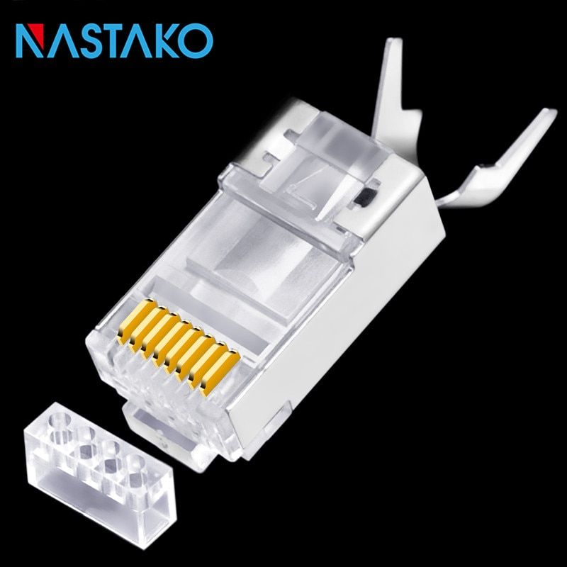 RJ45 Connector Cat6a Cat7 RJ45 plug RJ 45 shielded FTP 8P8C Cat 7 Network Cable Crimp Connectors for Cats
