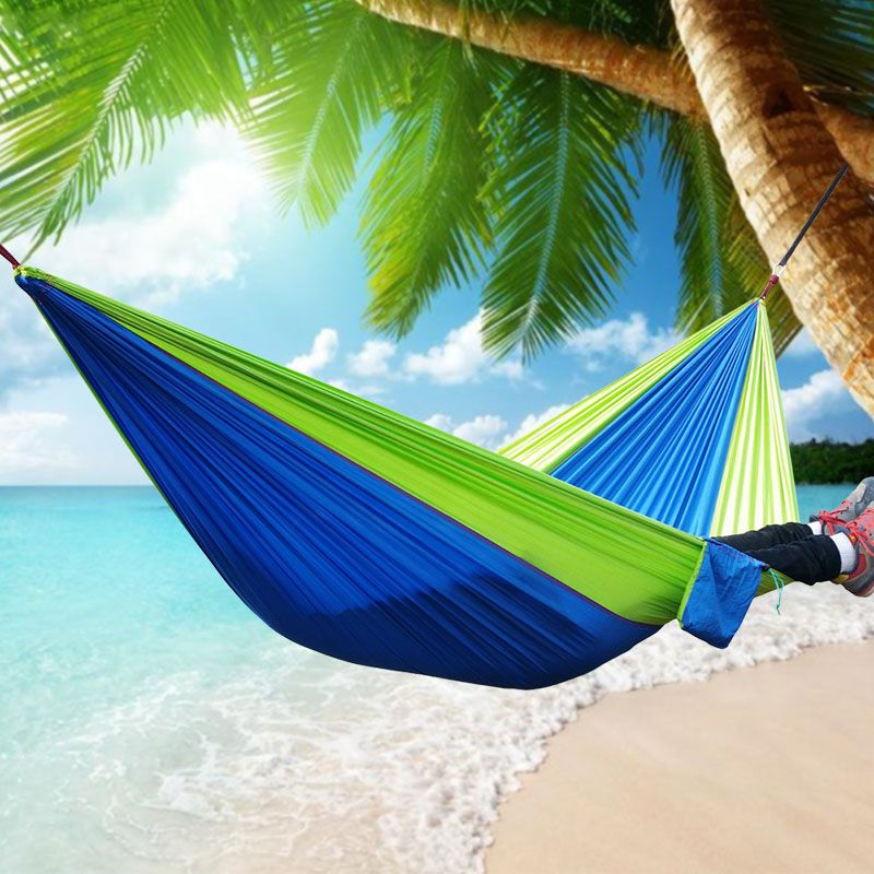 2 People Portable Parachute Hammock Camping Survival Garden Hunting Leisure Hamac Travel Double Person Hammocks Best Pri