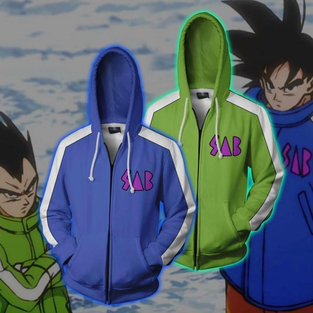Cloudstyle Men Zip Up Hoodies Dragon Ball Super Jacket 3D Vegeta Kid Goku Printed Anime Hooded Cosplay Zip Up Sweatshirt Coats