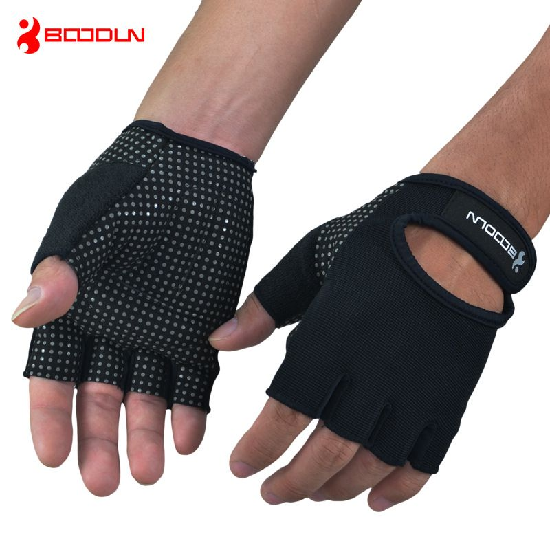 Indoor Sports Weight Lifting Training Gloves Black Weight Lifting Gloves Gym Body Building Workout Exercise Half Fingers Gloves