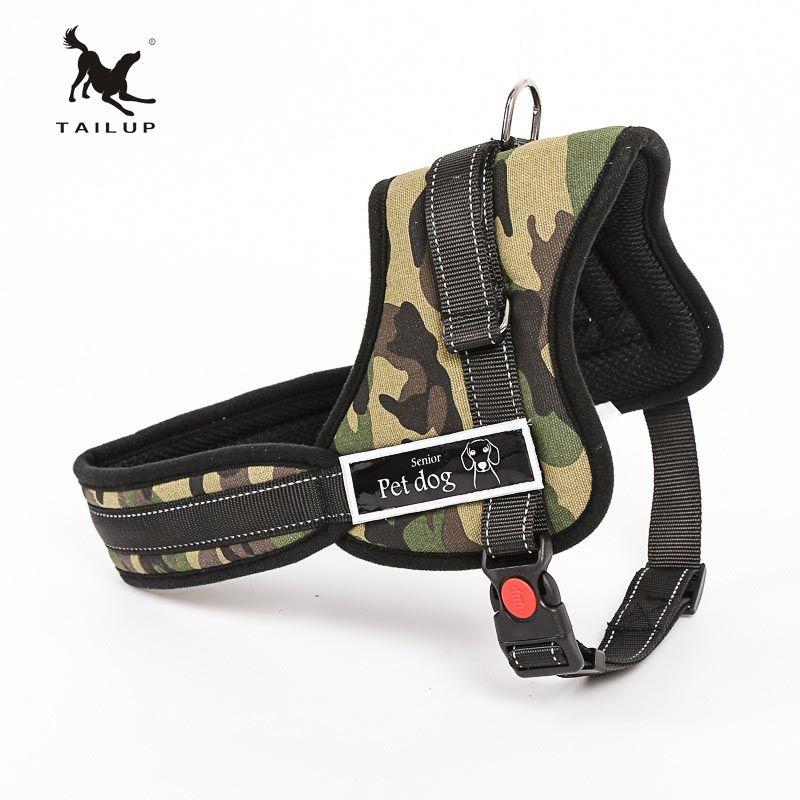 TAILUP collier de luxe pour grands chiens Police réfléchissante K9 doux harnais gilet Pet Shop chien accessoires S-2XL