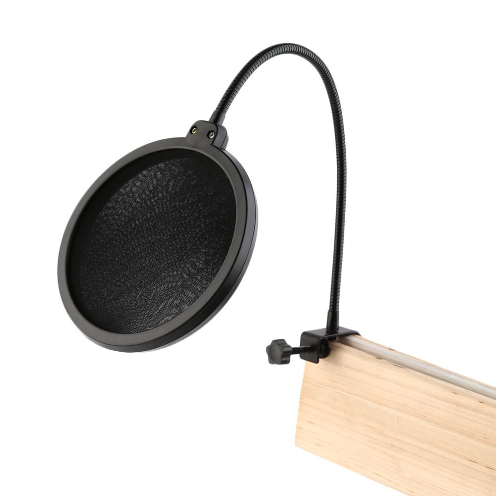 Hotsale Double Layer Studio Microphone Mic Wind Screen Pop Filter/ Swivel Mount / Mask Shied For Speaking Recording