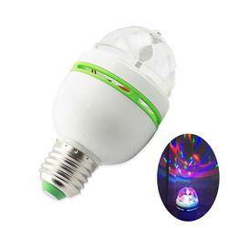 E27 3 Вт светодио дный сценические лампы Авто вращающийся RGB проектор хрустальный магический шар лазерного сценического световой эффект вече...