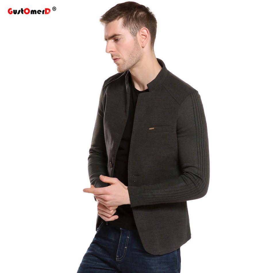 2016 New Mens Blazer Patchwork Suits For Men Top Quality Red Blazers Slim Fit Woolen Outwear Coat Costume Homme Blazer Men