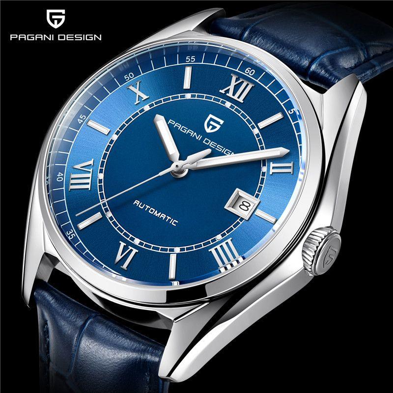 Uhr Männer PAGANI DESIGN Top Luxus Marke Automatische Mechanische Männer Leder Uhr Business-Mode Sport Uhr Relogio Masculino
