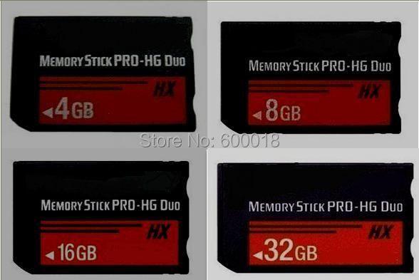 L h2testw pleine capacité réelle haute vitesse MS HX 4GB 8GB 16GB 32GB 64GB mémoire Stick Pro Duo cartes mémoire PSP aucune fissure ne peut pas utiliser