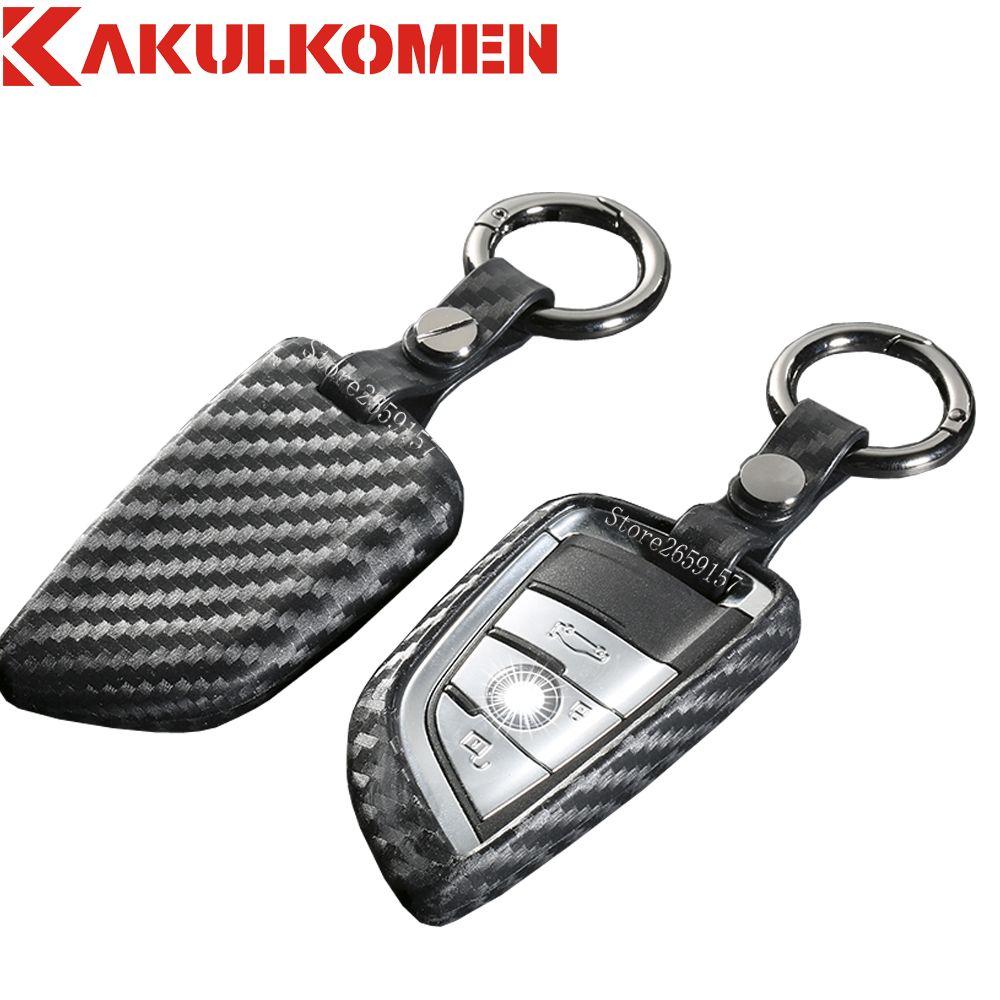 100% кремния углеродное волокно автомобилей smart key защиты чехол 3 4 кнопки для BMW X1 X5 X6 218i F48 автомобиля стайлинг лезвия серии