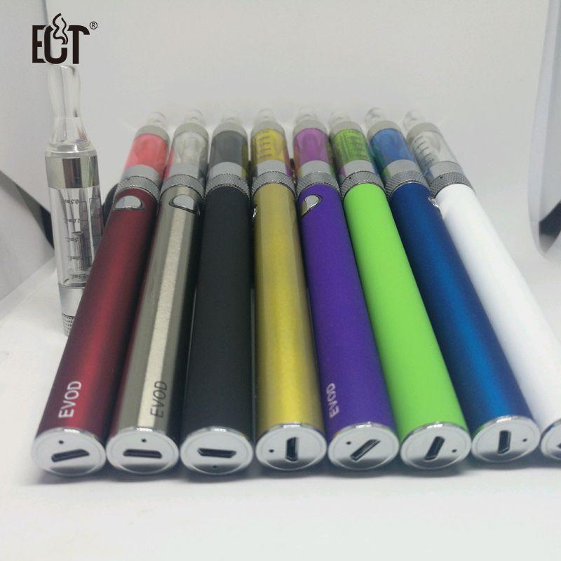 Ersetzen EGO EVOD passthrough Elektronische Zigarette 5pin micro USB Boden Batteryy und 2,4 ml bcc t3s cartomizer e zigarette kit