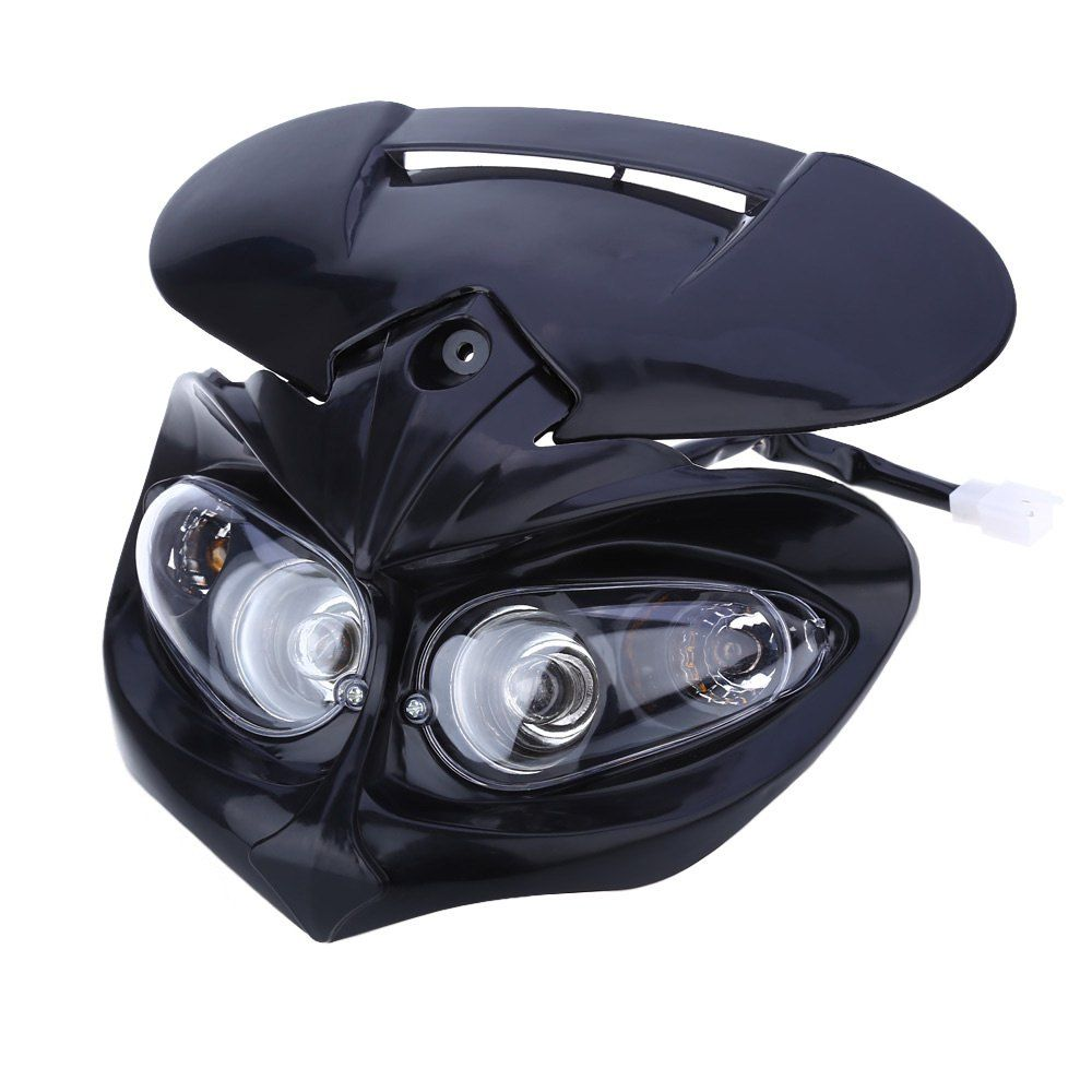 Fairing Head Lamp High / Low Beam Motorcycle Dual Headlight  for F-Eagle Apollo DC 12V 18W Applicable to Universal Motorcycles