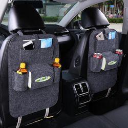 Organizador asiento de coche asiento de automóvil bolsas colgantes multifuncional asiento humanizado almacenamiento Felt Covers asiento trasero bolsillos