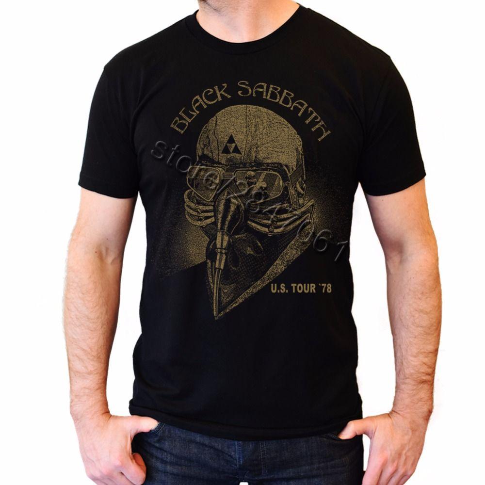 Homme Tony Stark T shirt noir sabbat US Tour Tee Merch 78 US USA 1978 T-Shirt homme manches courtes coton homme gros Shize chemises