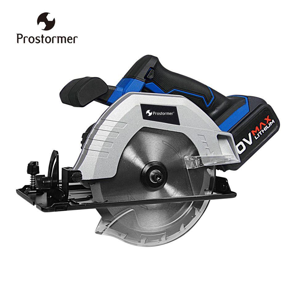 Prostormer 20V Cordless Circular Saw 165mm Electric Mini Woodworks Circular Saw 4000mAh li-ion battery 100-220V Fast Charger