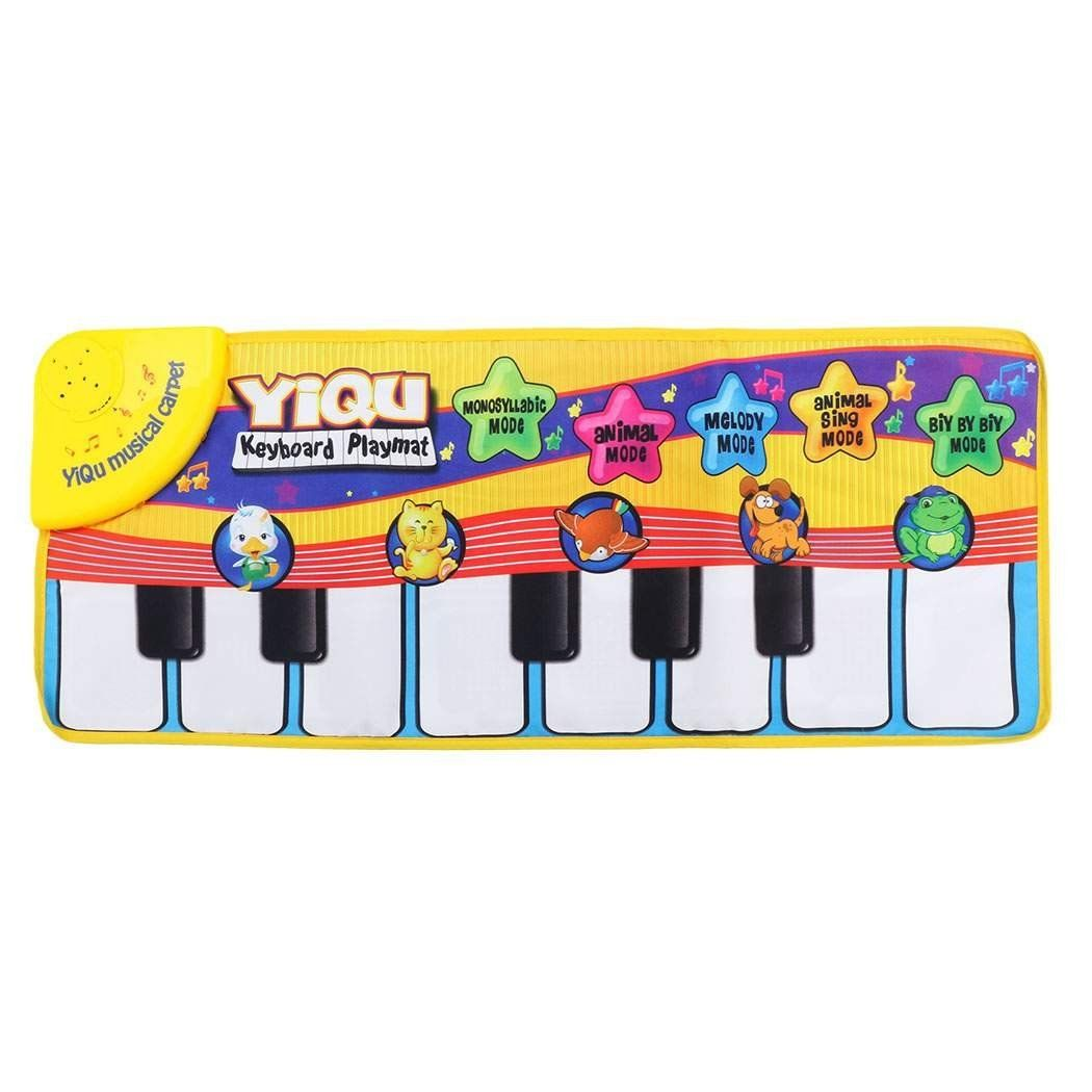 YIQU Baby toys Musical Touch Keyboard Singing Carpet Mat Funny Animal Piano Toy