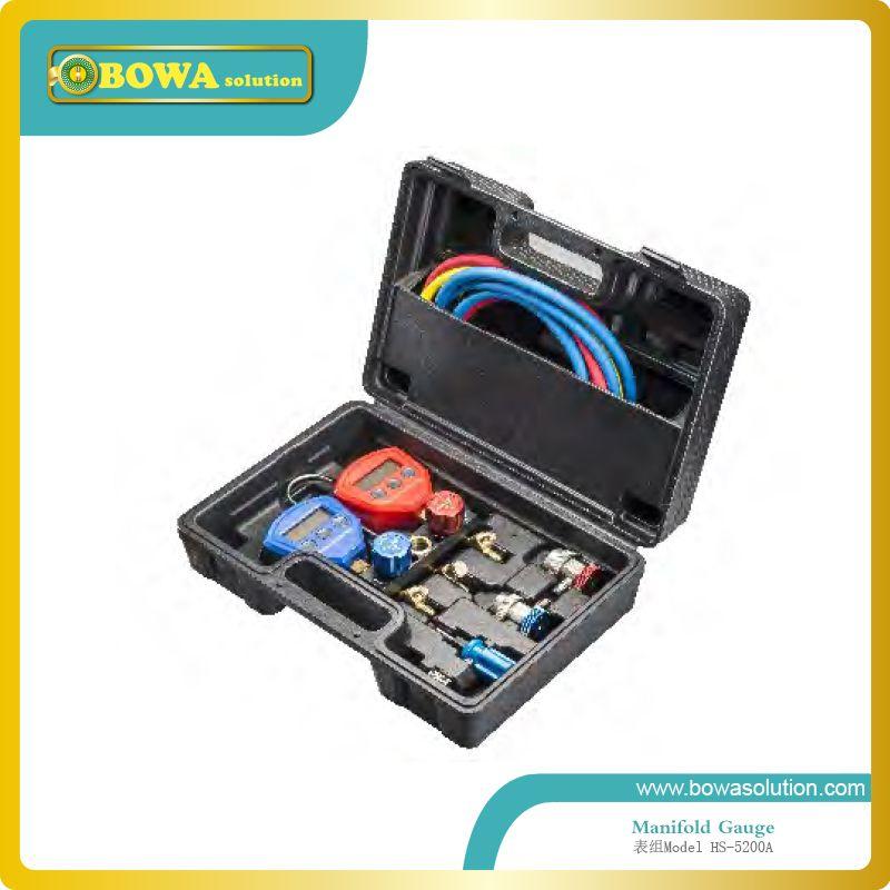 Digitale monteureinstellung mit charing schlauch und schneller koppler für zimmer klimaanlage reparatur oder kältemittel lade