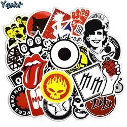 50 Pcs Rock & Roll Stickers Punk Sticker for Laptop Skateboard Motorcycle Car Luggage Vinyl Decals Graffiti Waterproof Stickers