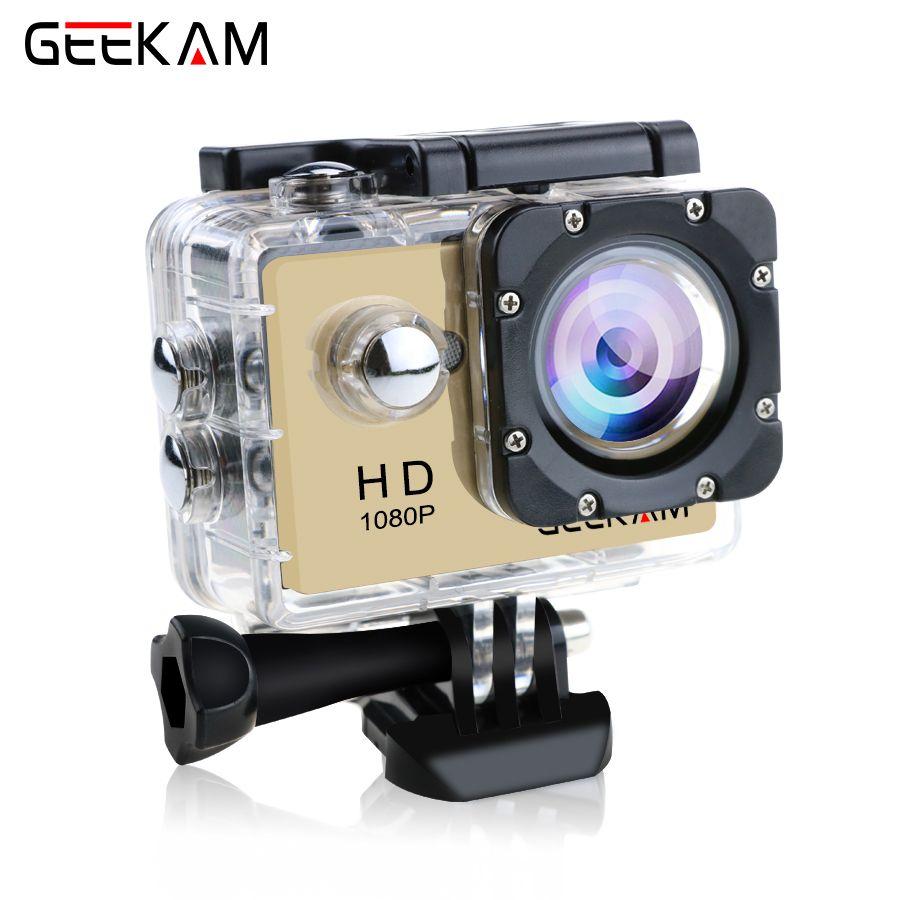 D'origine GEEKAM A9 d'action caméra 1080P15fps 720 P HD sports de plein air pro étanche go Mini camaras deportivas vélo caméra vidéo