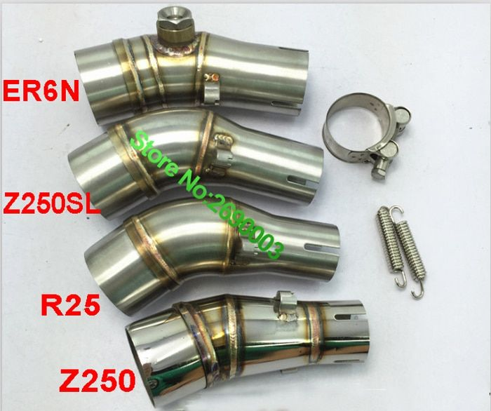 Racing Motorcycle Exhaust Muffler Link Pipe Interface Tube ER6N/Z250 Motorcycle Exhaust Muffler Pipe Escap Damper Adapter