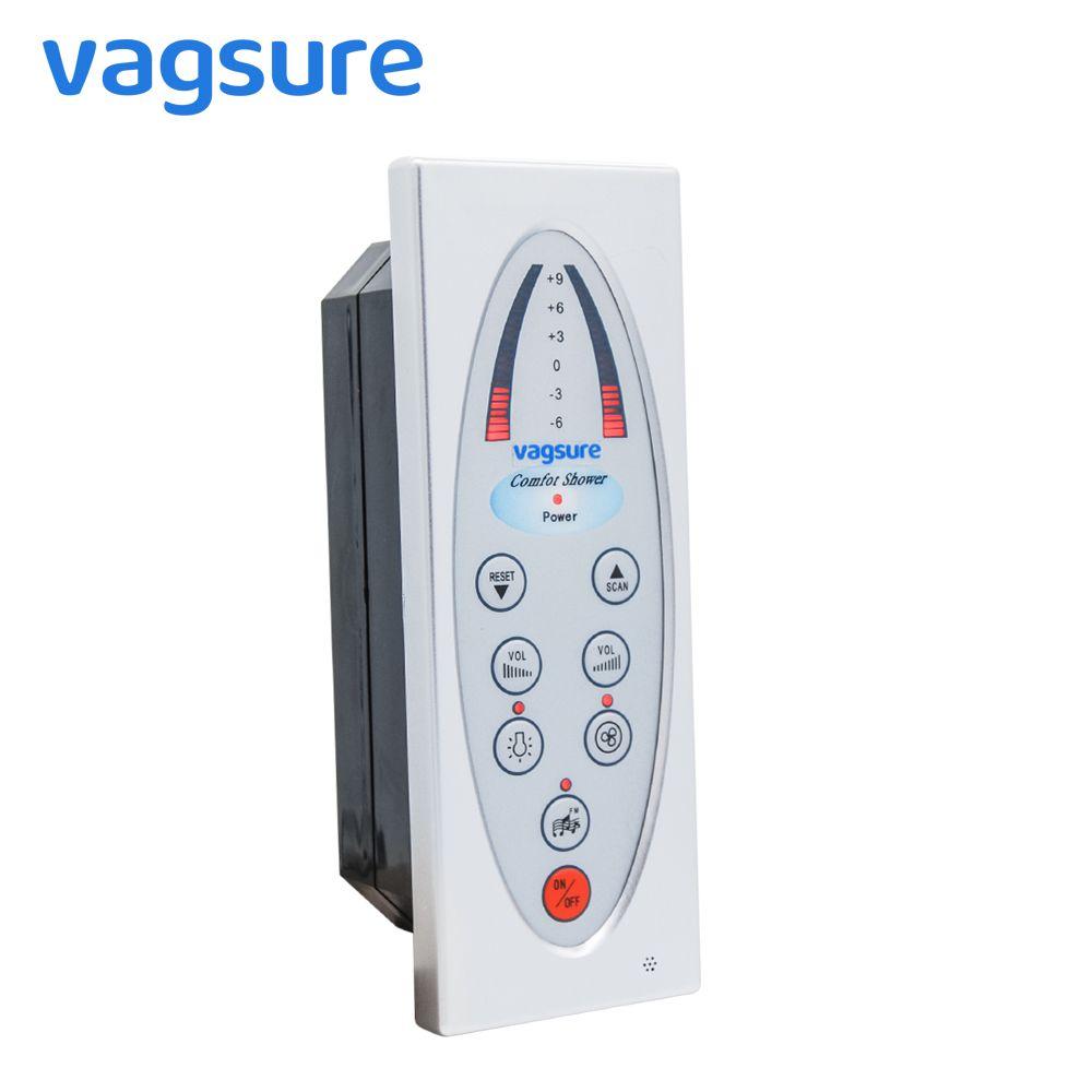 Vagsure 1 pièces panneau de commande de salle de douche numérique Fm Radio ventilateur haut-parleur étanche IPX5 pour contrôleur accessoires de cabine de douche