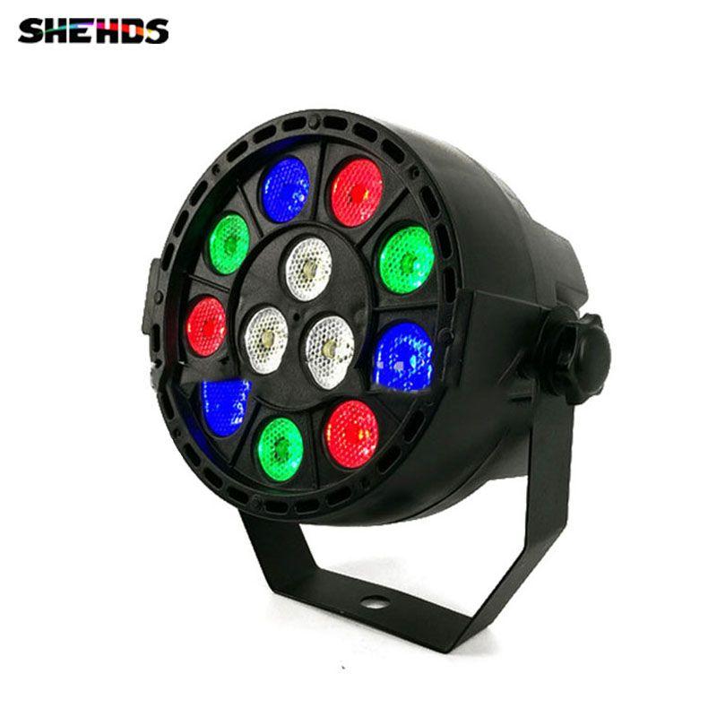 2 pcs/lot LED effet de lumière de scène 12x3 W plat Par RGBW DMX512 DJ Disco lampe KTV Bar partie rétro-éclairage faisceau projecteur Dmx projecteur
