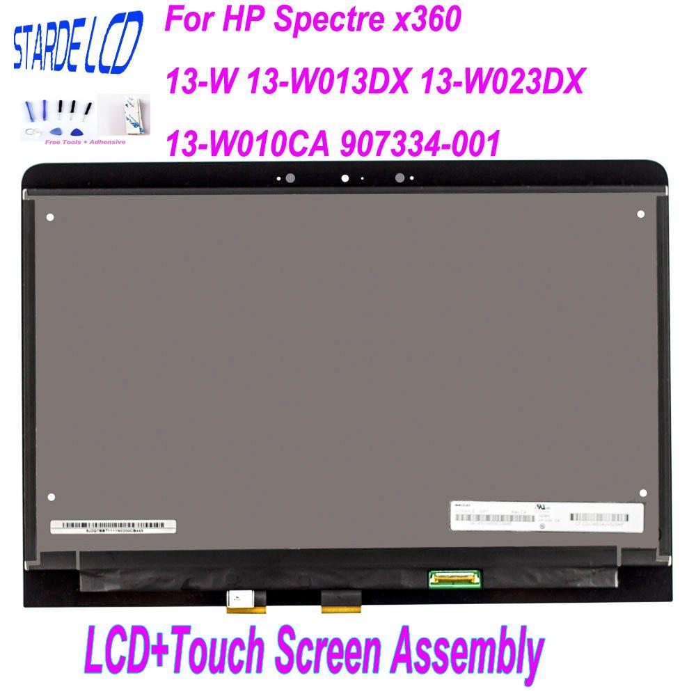 STARDE LCD 13.3 ''pour HP Spectre x360 13-W 13-W013DX 13-W023DX 13-W010CA 907334-001 LCD écran tactile numériseur assemblée