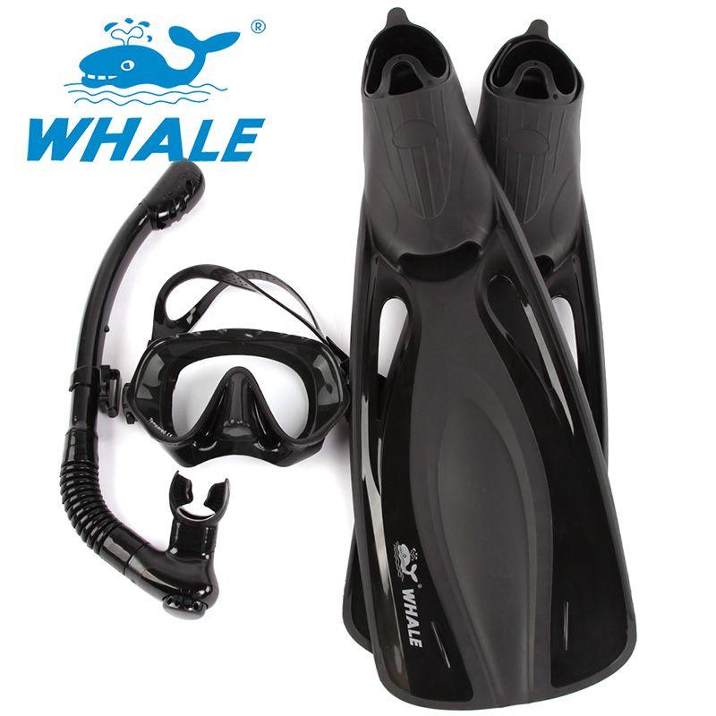 Water Sports long Diving Flipper Equipment Scuba Diving Mask Snorkel fins set