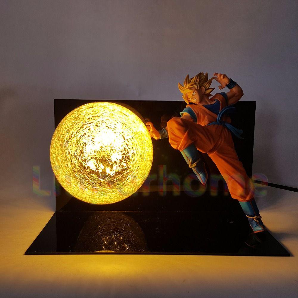 Dragon Ball Z Goku Super Saiyan FES Led Lighting Lamp Anime Dragon Ball Z DBZ Son Goku God Led Night Lights Luces Navidad