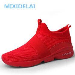 Mixidelai Musim Semi/Musim Gugur Model Baru Pria Sepatu 2019 Fashion Nyaman Pemuda Kasual Sepatu untuk Pria Lembut Mesh Desain Malas sepatu