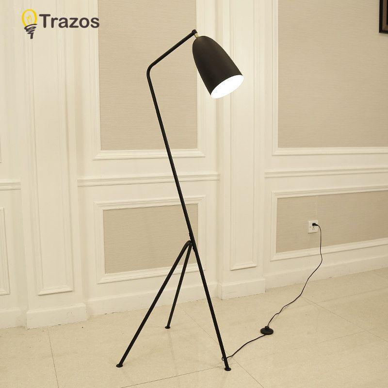 Moderne Minimaliste Industriel Lampadaire Permanent des Lampes de salon Lecture Éclairage Loft Fer Triangle Lampadaire Coloré