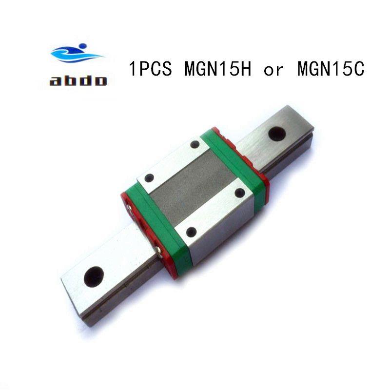 Haute qualité 1 pièces MGN15H ou MGN15C roulement linéaire bloc coulissant pour MGN15 guide linéaire pour CNC xyz livraison gratuite