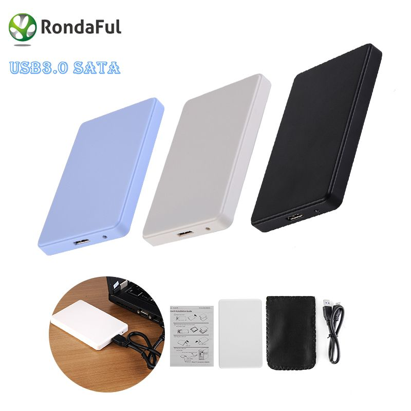 3 Colors 2.5 USB 3.0 SATA HD Box 1TB HDD Hard Drive External Enclosure Case Support Up to 2TB Data transfer backup tool For PC